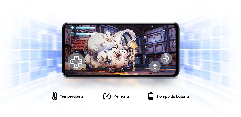 El GalaxyA52 cuenta con Game Booster que aprende a optimizar la batería, la temperatura y la memoria para mejorar tu experiencia de juego.