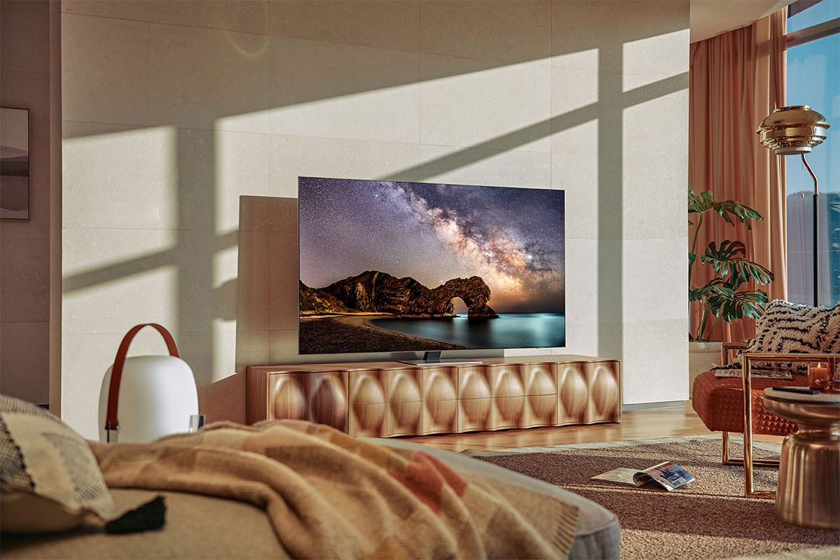 Samsung QLED QN85A with Neo quantum processor 4K is showing the clear picture