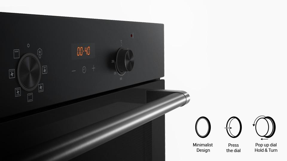 Şık ve temizlenmesi kolay kontrol düğmeleri
