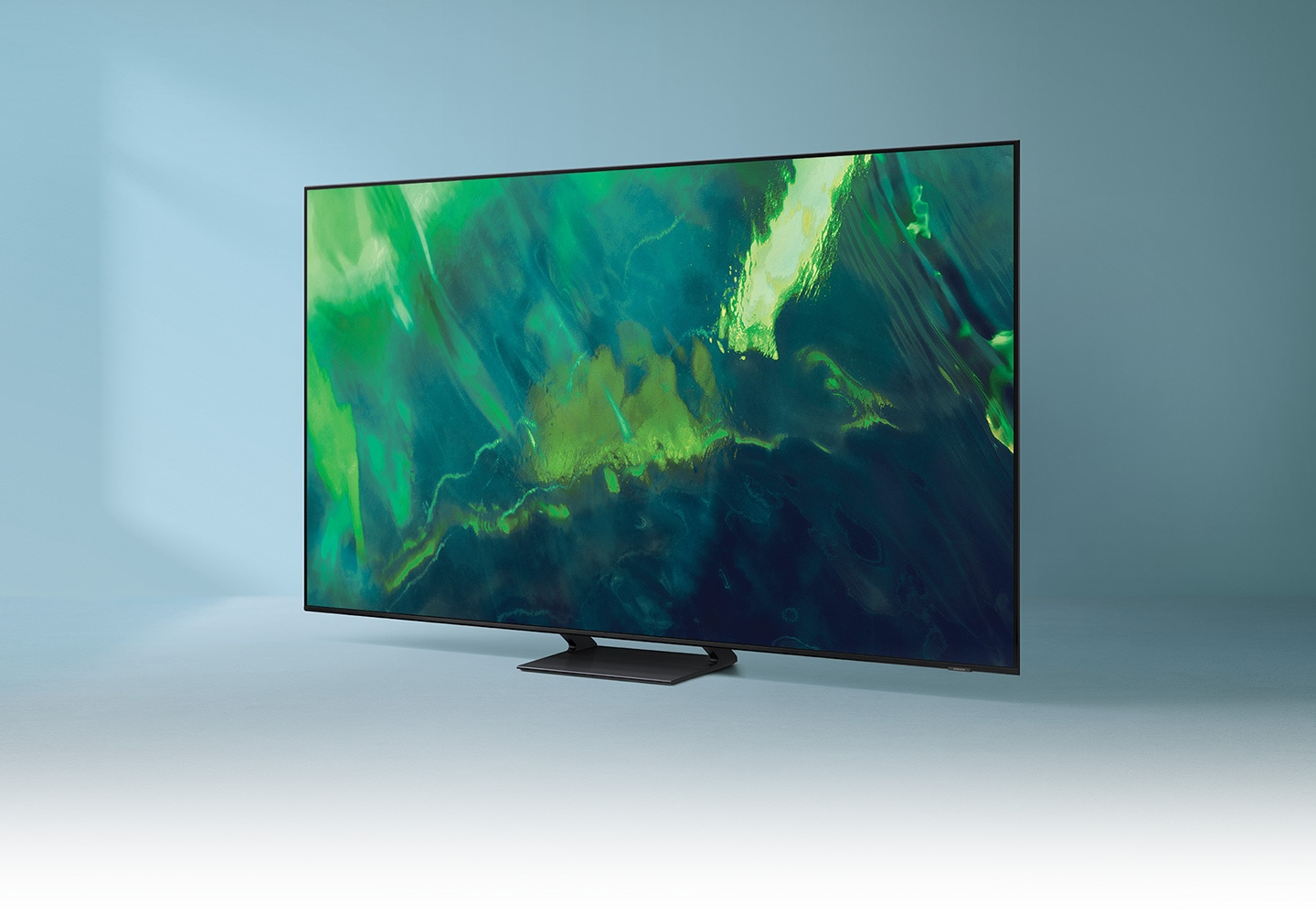 Q70A displays intricately blended color graphics which demonstrate long-lasting colors of Quantum Dot technology.