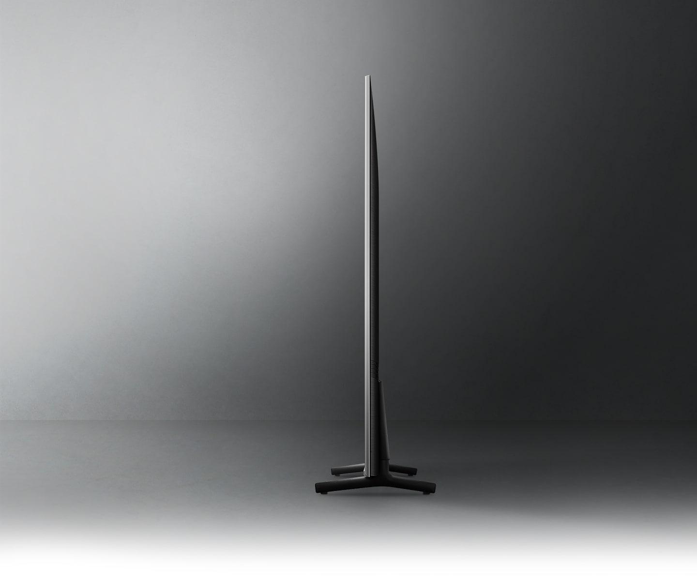 Mặt nghiêng của TV Crystal UHD cho thấy thiết kế siêu mỏng của TV Crystal UHD AirSlim.