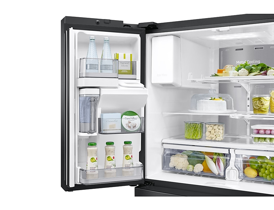 new-ice-maker-l-door-bins-flip-up-shelf-lighting black