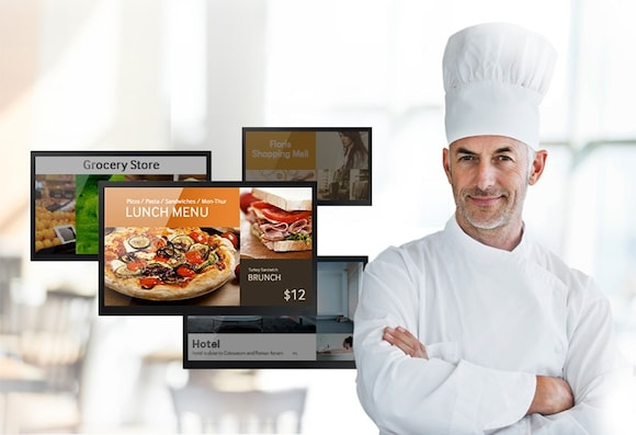 Easily manage digital signage with a simplified Home UI, tools and templates