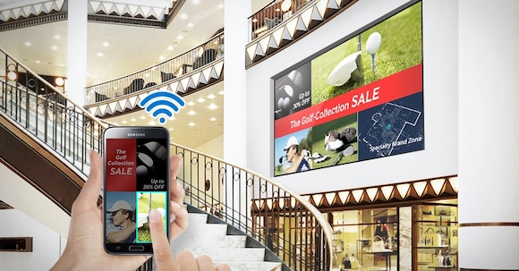 Manage digital signage wirelessly virtually anywhere, anytime on a mobile device