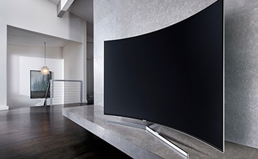 see large image of right perspective image of TV in a living room.