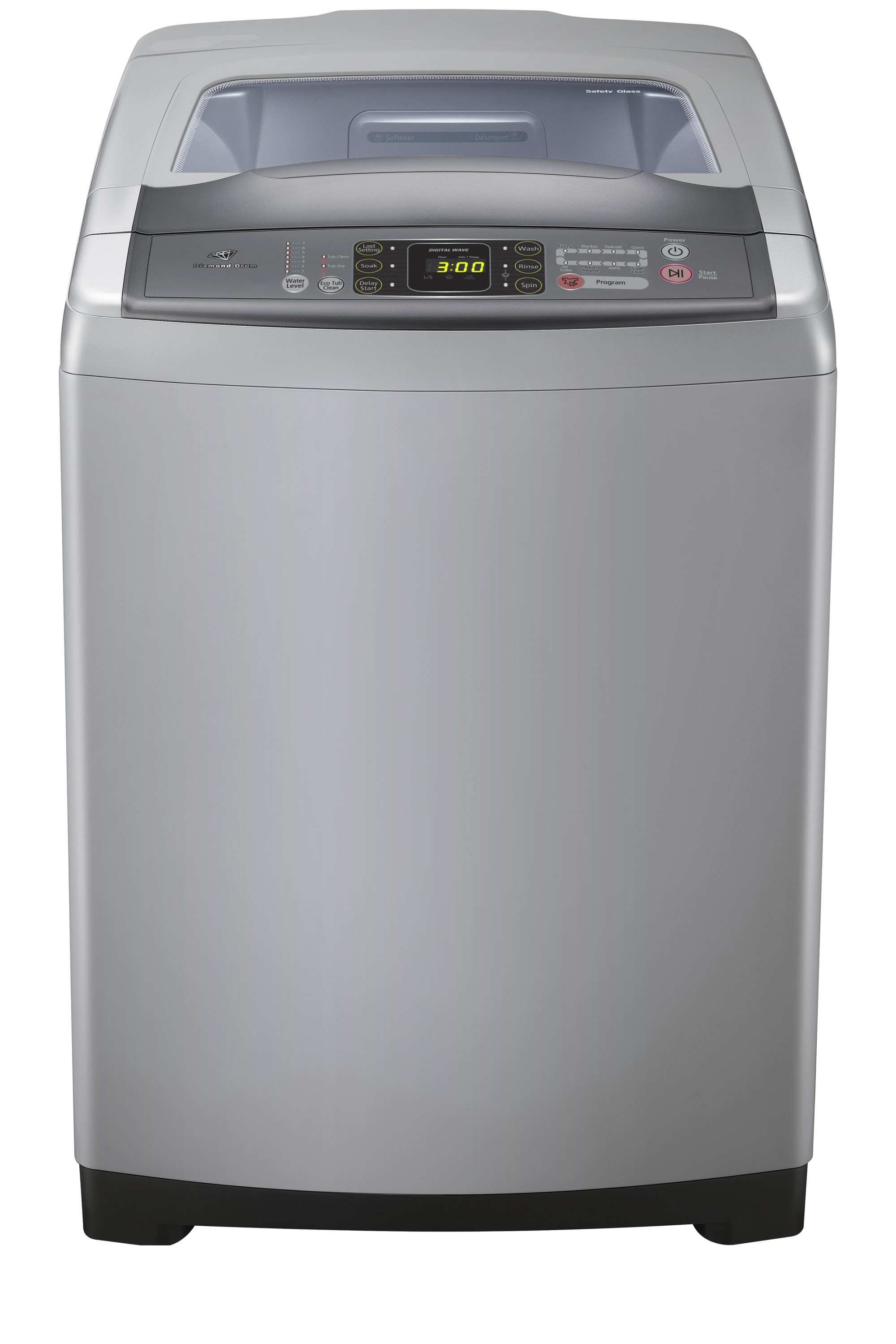 Gaia Top Loader with Wobble Technology, 11 kg, Gray