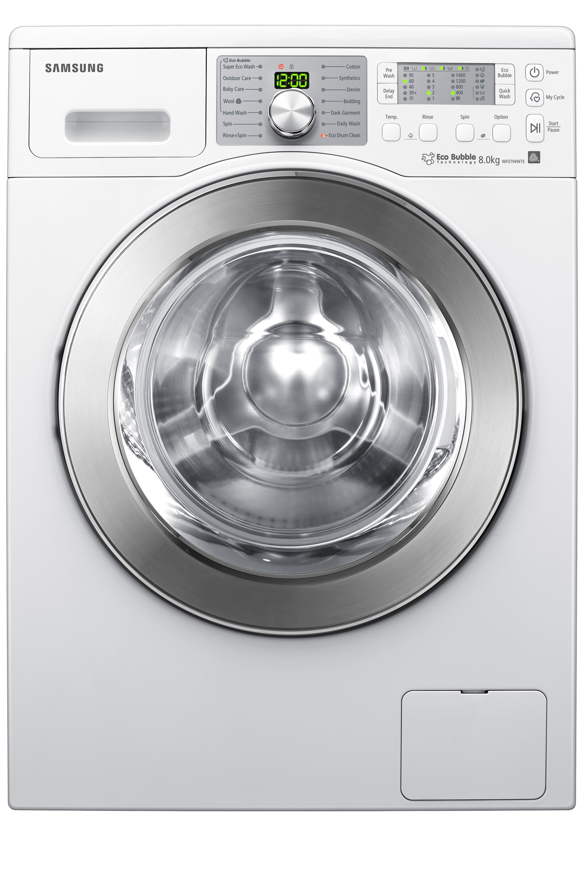 Scout Washer with Eco Bubble, 8 kg, White