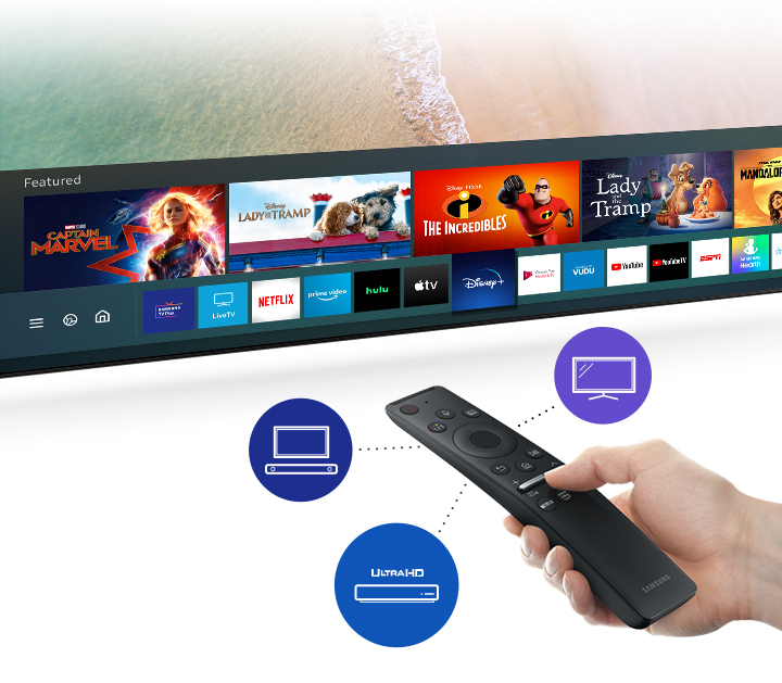 Access various content with one remote (US)