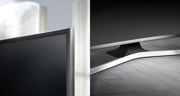A truly beautiful TV highlighted by a new sleek metallic curve design