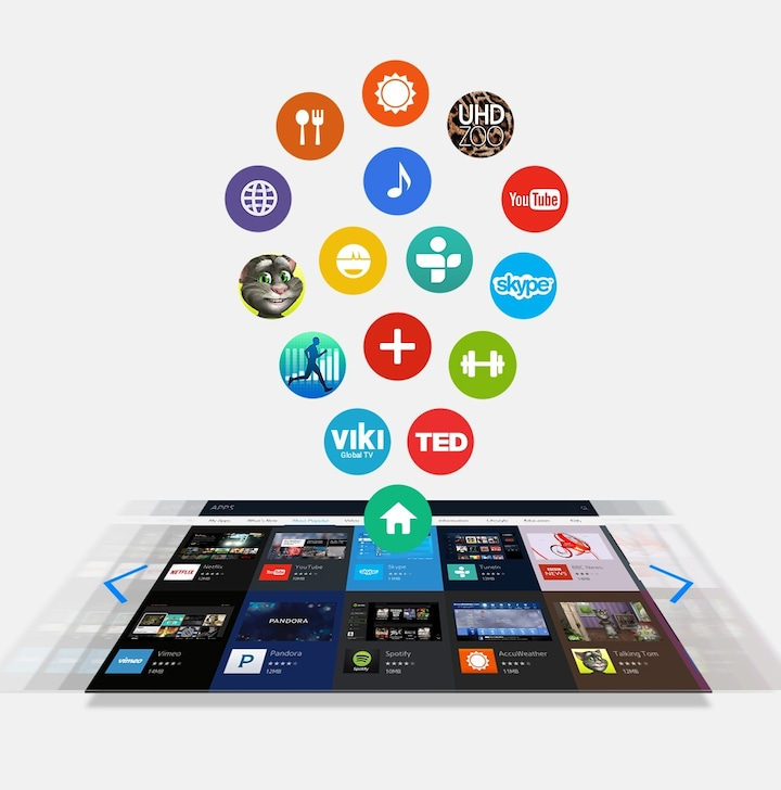 Experience life-enriching apps on your Smart TV