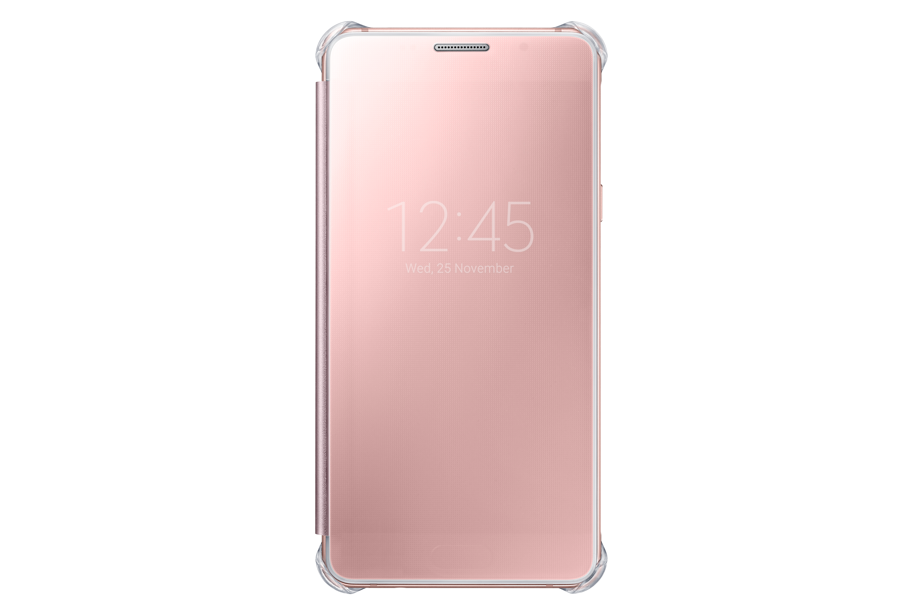 Etui Clear View Cover do Galaxy A5 (2016) (różowe złoto)