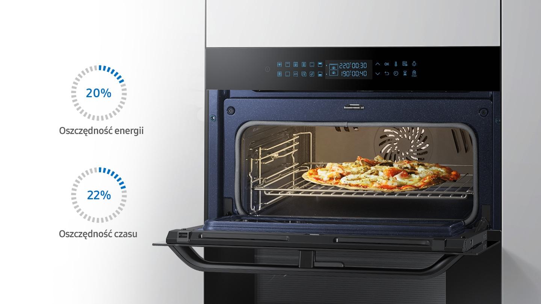 Zmniejszenie utraty ciepła przy otwarciu jednej komory piekarnika