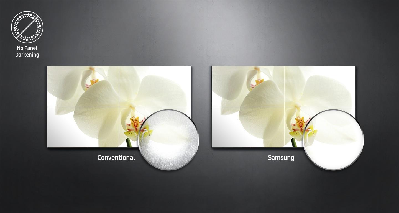 Wydajne panele reklamowe Samsung UH46N-E są wytrzymałe i oporne przed działaniem pyłu czy wysokich temperatur