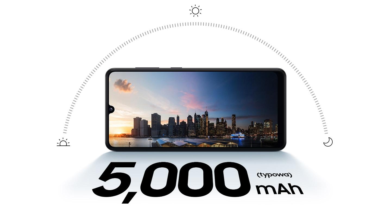 Bateria, która pozwoli Twojemu nowemu smartfonowi Galaxy A31 od Samsung przetrwać cały dzień, z Twoimi ulubionymi multimediami!
