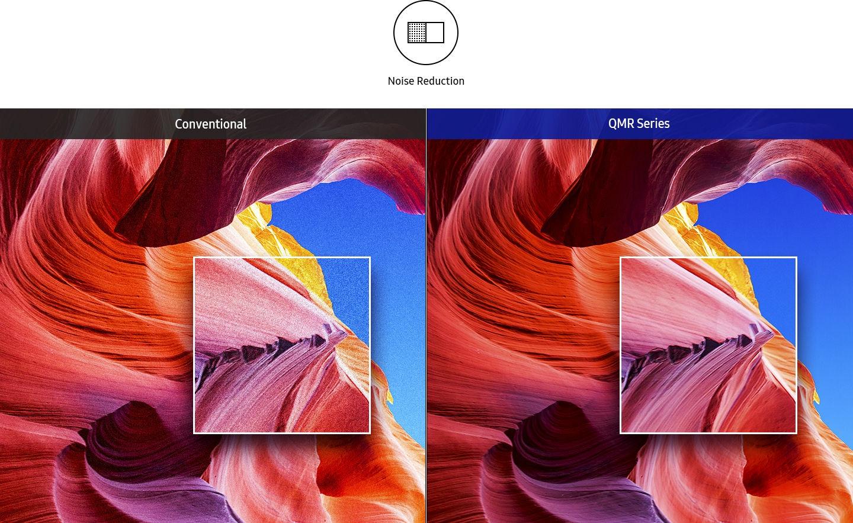 Nowoczesne ekrany reklamowe LED Samsung posiadają funkcję redukcji szumów dzięki czemu gwarantują wysoką jakość i pełną wyrazistość treści