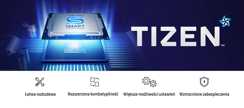 Profesjonalne wyświetlacze reklamowe serii QHR Samsung wykorzystują platformę SSSP i system Tizen 4.0, dzięki czemu oferują ogromne możliwości i najlepsze zabezpieczenia
