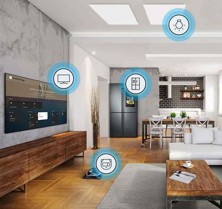 Ovládejte svůj domov pomocí SmartThings z QLED TV