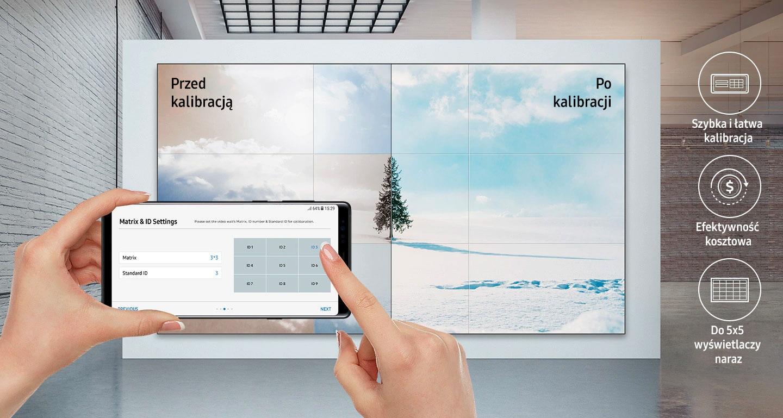 Color Expert Pro Mobile to rozwiązanie pozwalające na kalibrację ściany wideo przy pomocy aparatu w smartfonie