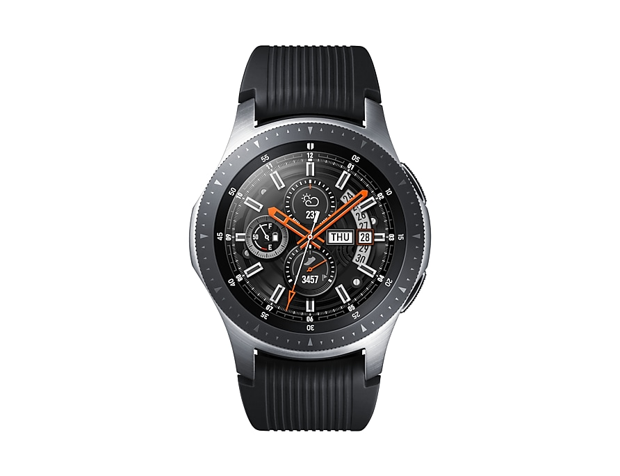 Srebrny smartwatch Samsung Galaxy Watch 46 mm - front