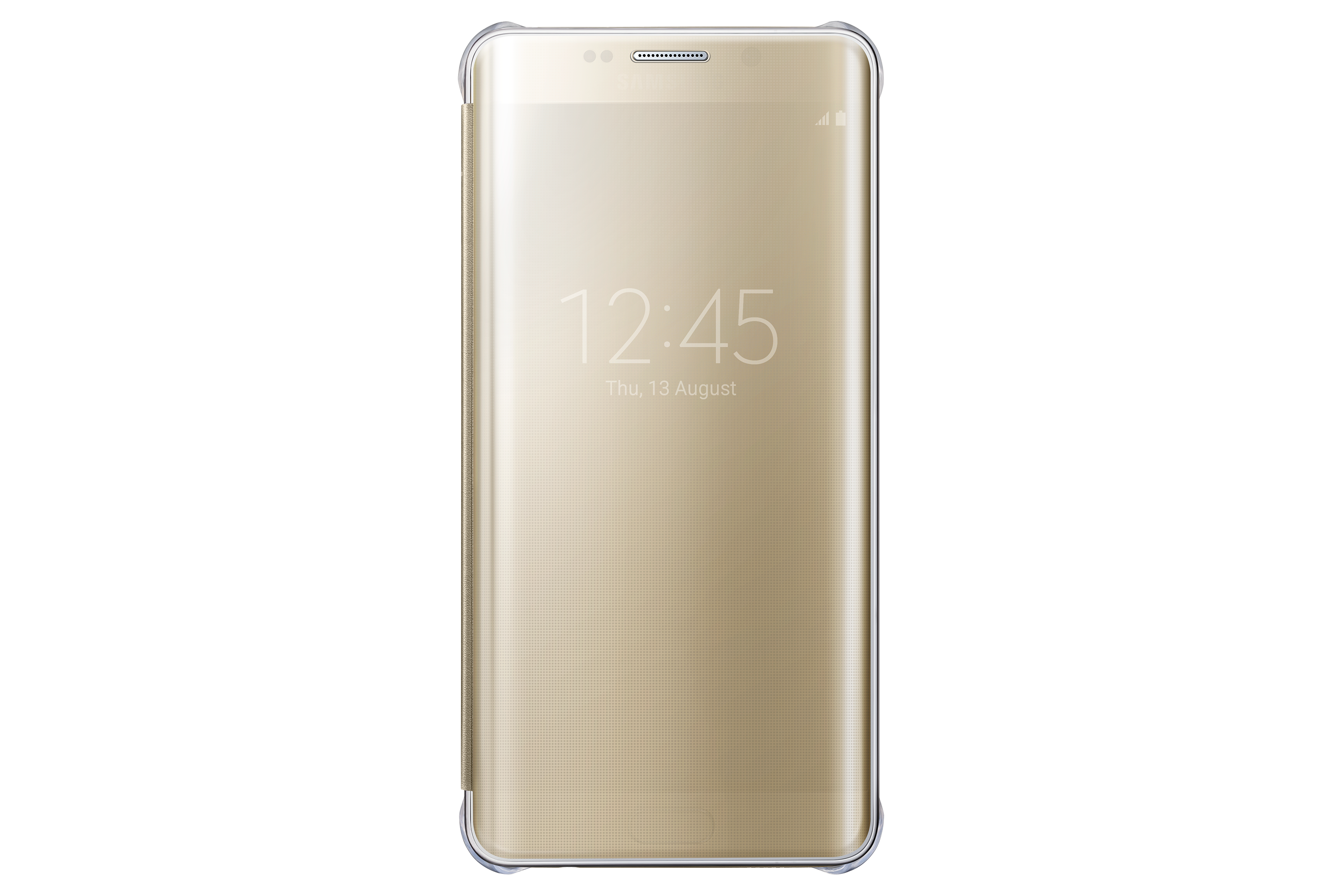 Capa Clear View Galaxy S6 Edge+ Dourado