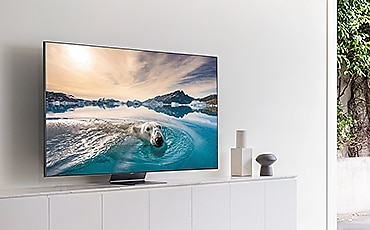 Vista lateral QLED TV