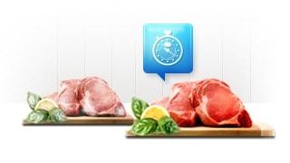 Alimentele congelate se transformă în alimente proaspete imediat.