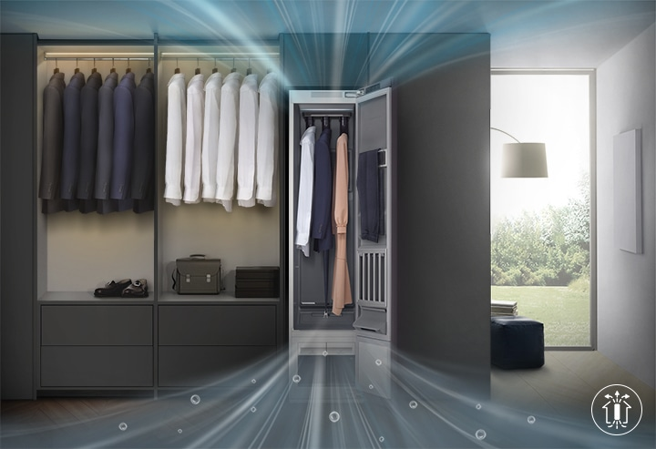 Better clothes care with less humidity