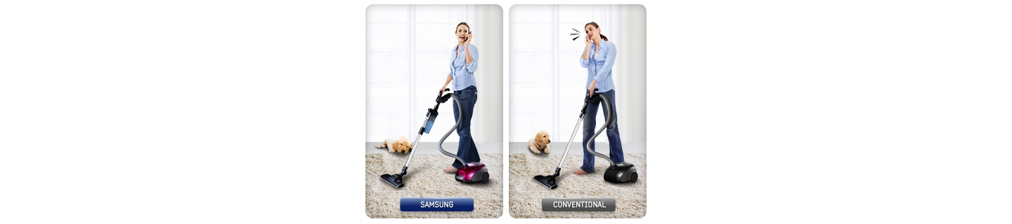Make vacuum time quiet time