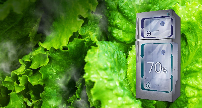 نضارة كاملة الرطوبة في جميع أنحاء الثلاجة