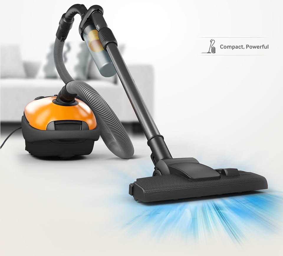 Compact design, Powerful  suction