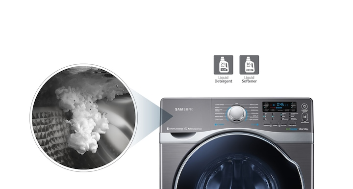 Automatically dispenses detergent