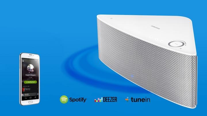 Ta kontroll över musiken med Samsung Multiroom trådlös högtalare d7f14b67f4fb4