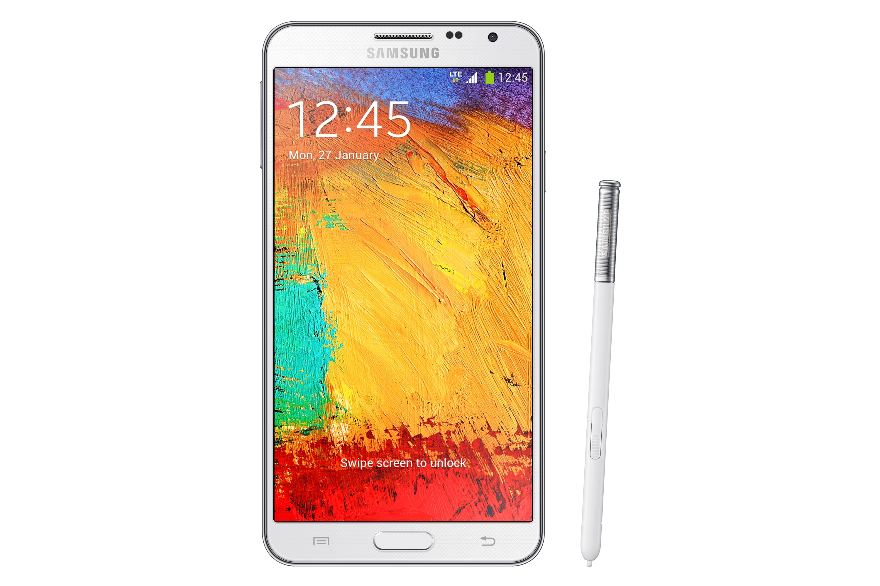SM-N7505 Front With Pen White