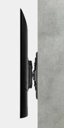 일반 TV가 벽면의 부착됬을 때의 남은 공간을 보여주는 모습입니다.