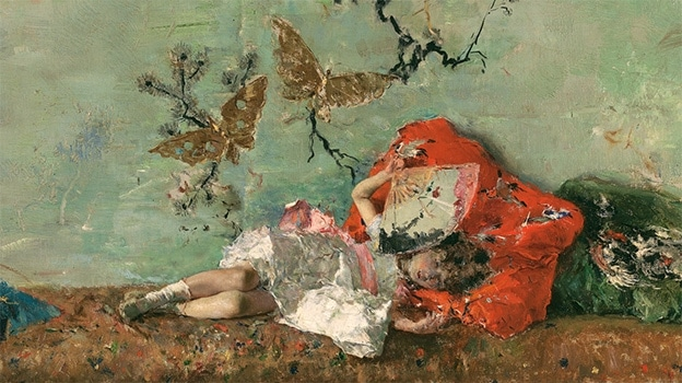 Mariano Fortuny y Madrazo, The Painter's Children in the Japanese Room. Detail (1874)