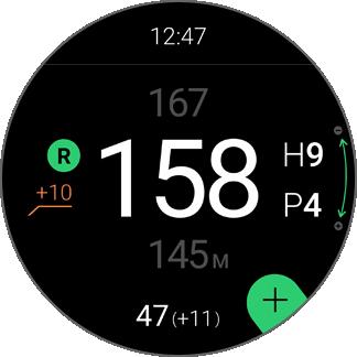 Golf NAVI 앱 UI 입니다.