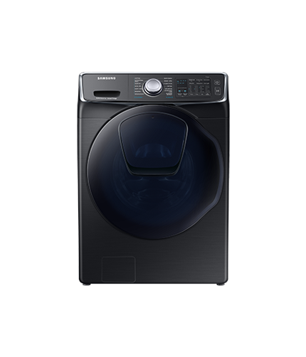 Samsung Washer Dryer front black