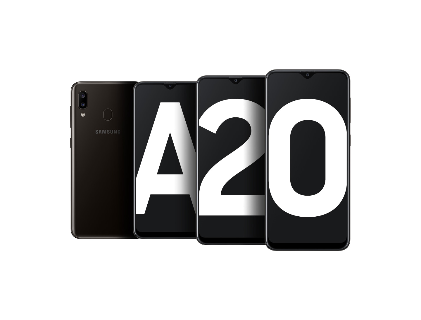 Samsung Galaxy A20 with cinematic visual experience