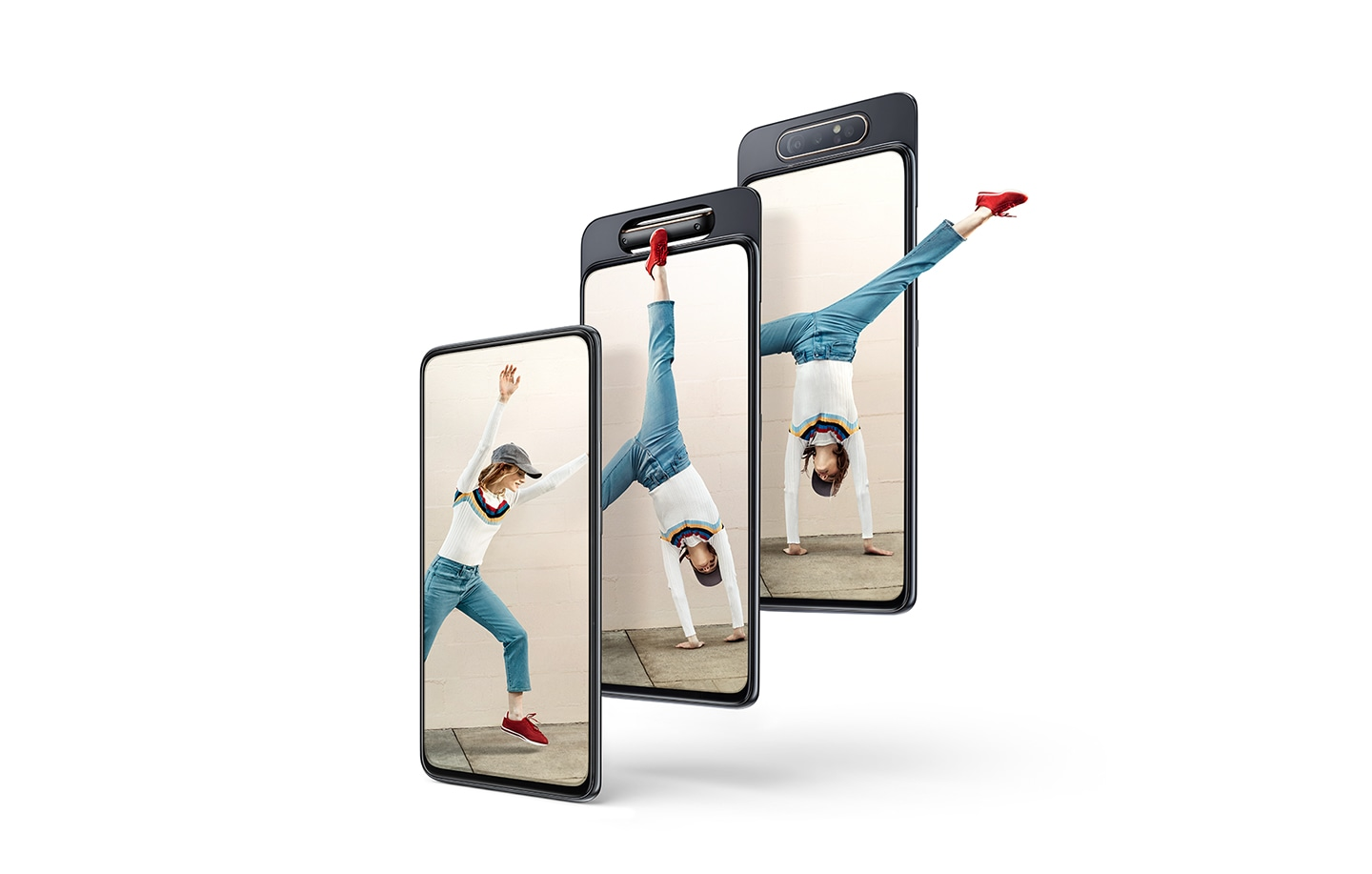 Samsung Galaxy A80 with cinematic visual experience