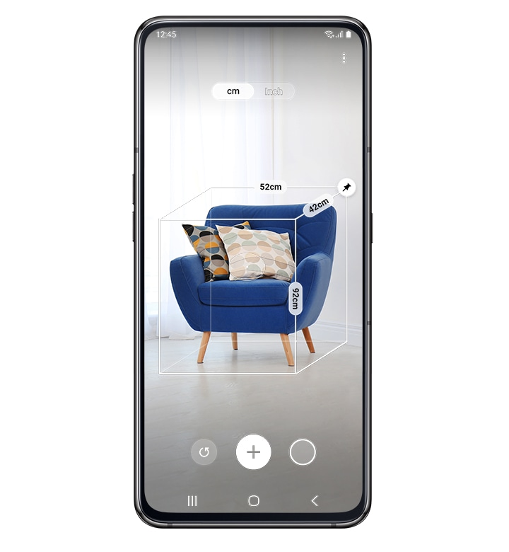 Samsung Galaxy A80 with Quick Measure App