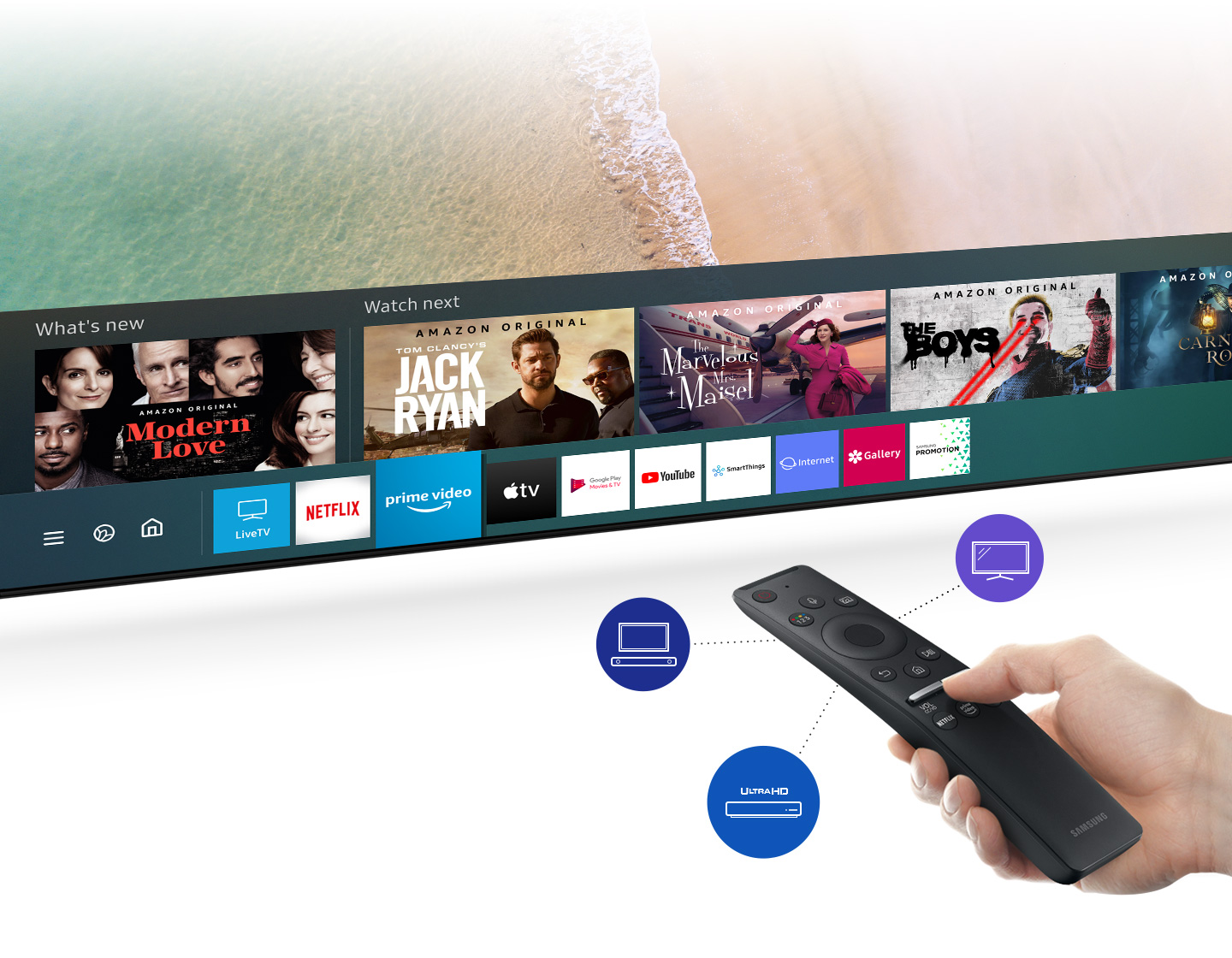 Access a variety of content with one remote