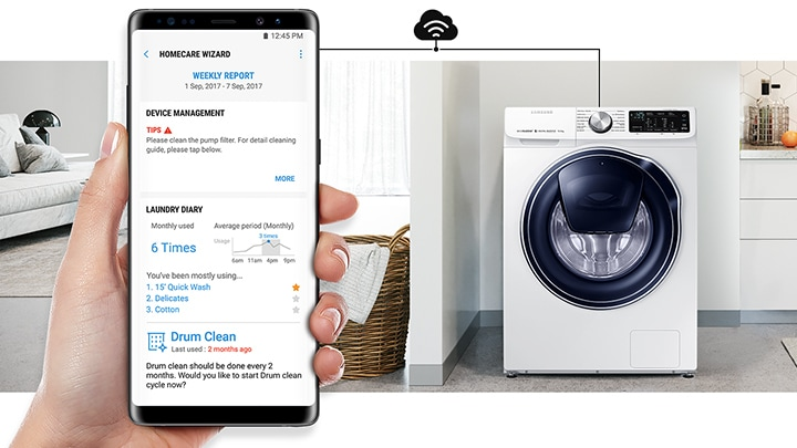 Samsung Washing Machine AI-powered laundry