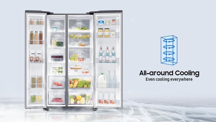 Samsung Side by Side Fridge with all-around cooling