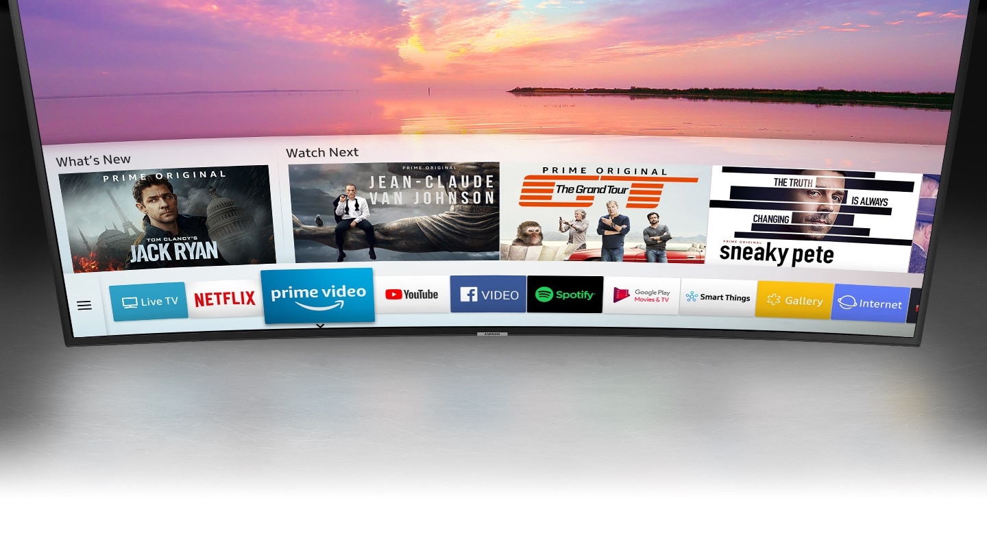 Samsung UHD 4K Curved Smart TV NU7300 Series 7 - an intelligent way to enjoy your smart TV