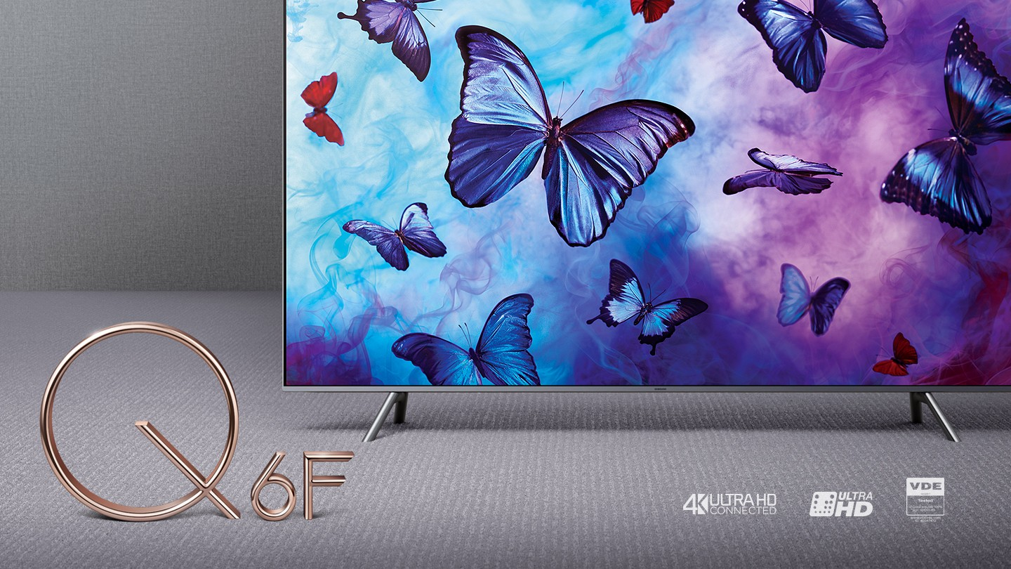 shades of colour brought to life with Samsung QLED TV Q6F 2018