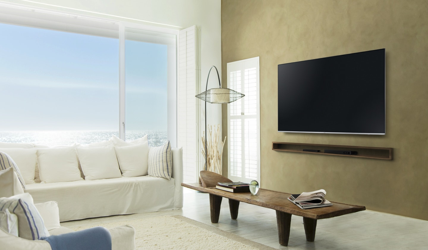 Samsung Smart TV clean cable solution and one connect