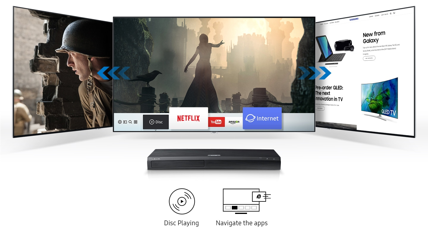 Samsung Ultra HD Blu-ray Player Easy entertainment with a seamless UI
