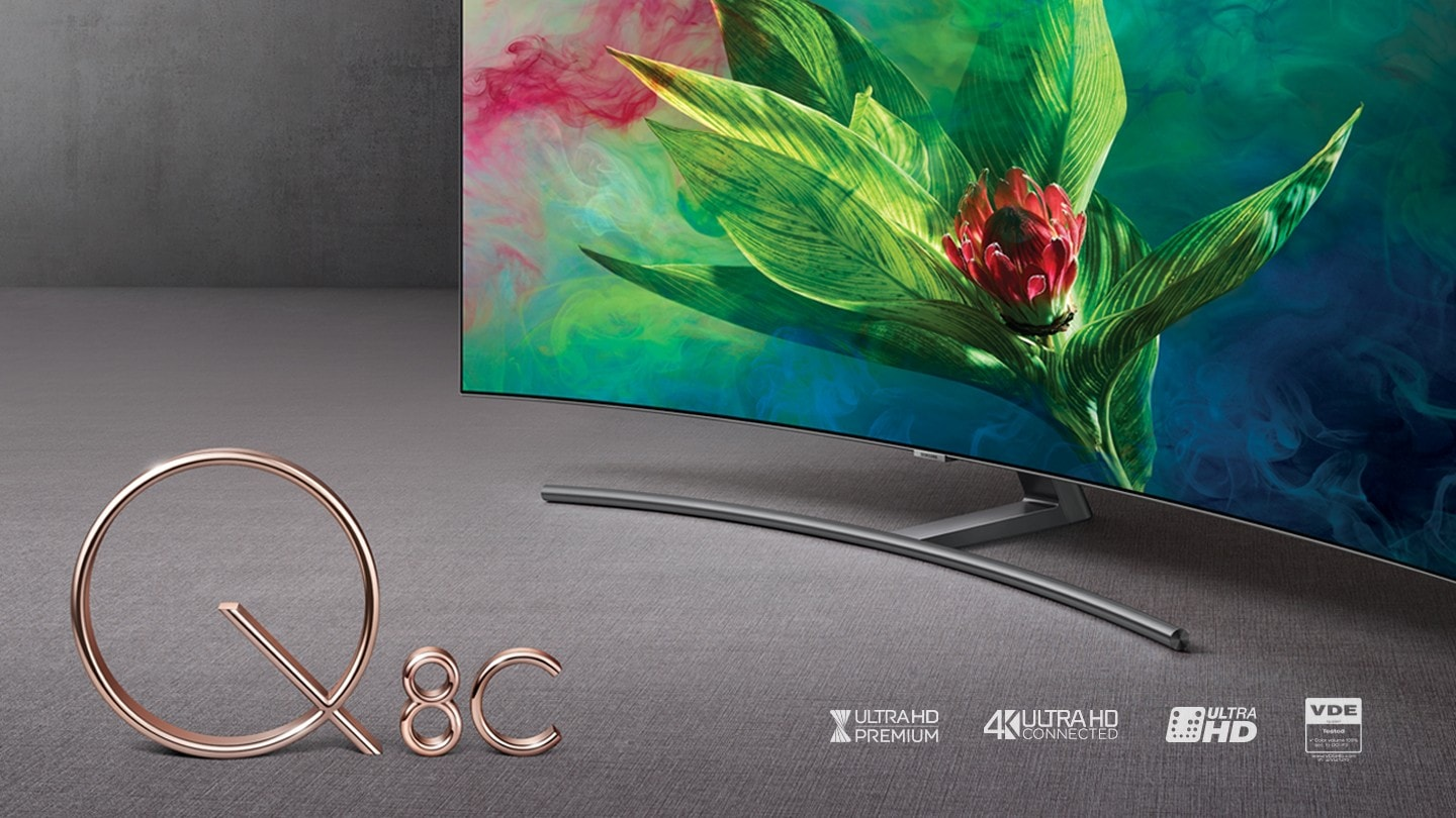 QLED Q8C Curved 4K Smart TV Fall into a beauty of curve