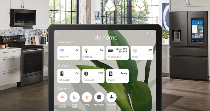 Samsung Galaxy Tab S5e with SmartThings app connectivity