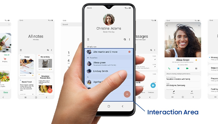 Samsung Galaxy smartphones with One UI